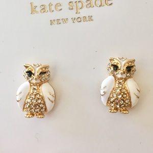Adorable NWT kate spade owl earrings!